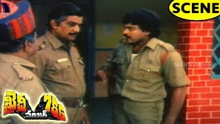Chiranjeevi Slaps Police Officer & Leaves Job For Justice - Action Scene || Khaidi No.786 Scenes