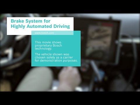 Bosch Redundant Brake System for Highly Automated Driving