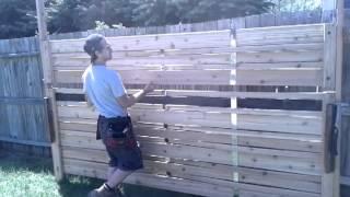 Stassen Design Woven Cedar Privacy Fence & Window