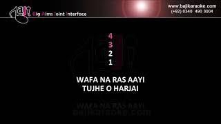 Wafa Na Raas Aayi - Video Karaoke - Nitin Mukesh - Bewafa Sanam - by Baji Karaoke Pakistani