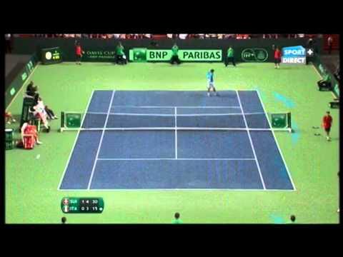 Federer VS Fognini Coupe Davis 2014