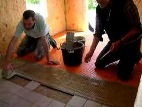 fliesen legen in der sauna youtube. Black Bedroom Furniture Sets. Home Design Ideas