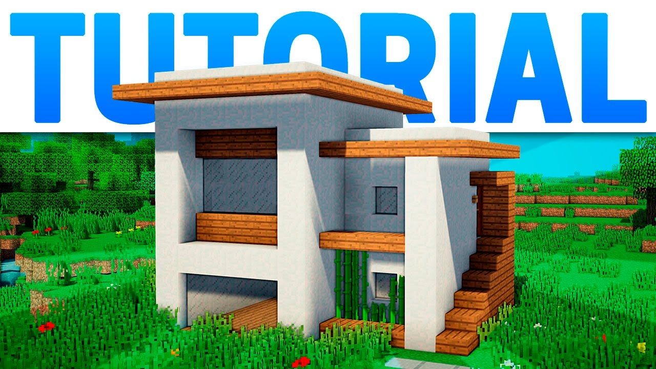 Minecraft casa moderna compacta y bonita tutorial youtube for Casa moderna 2 minecraft