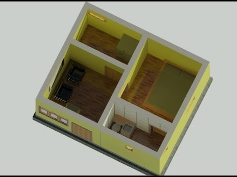 400 Square feet house in revit architecture