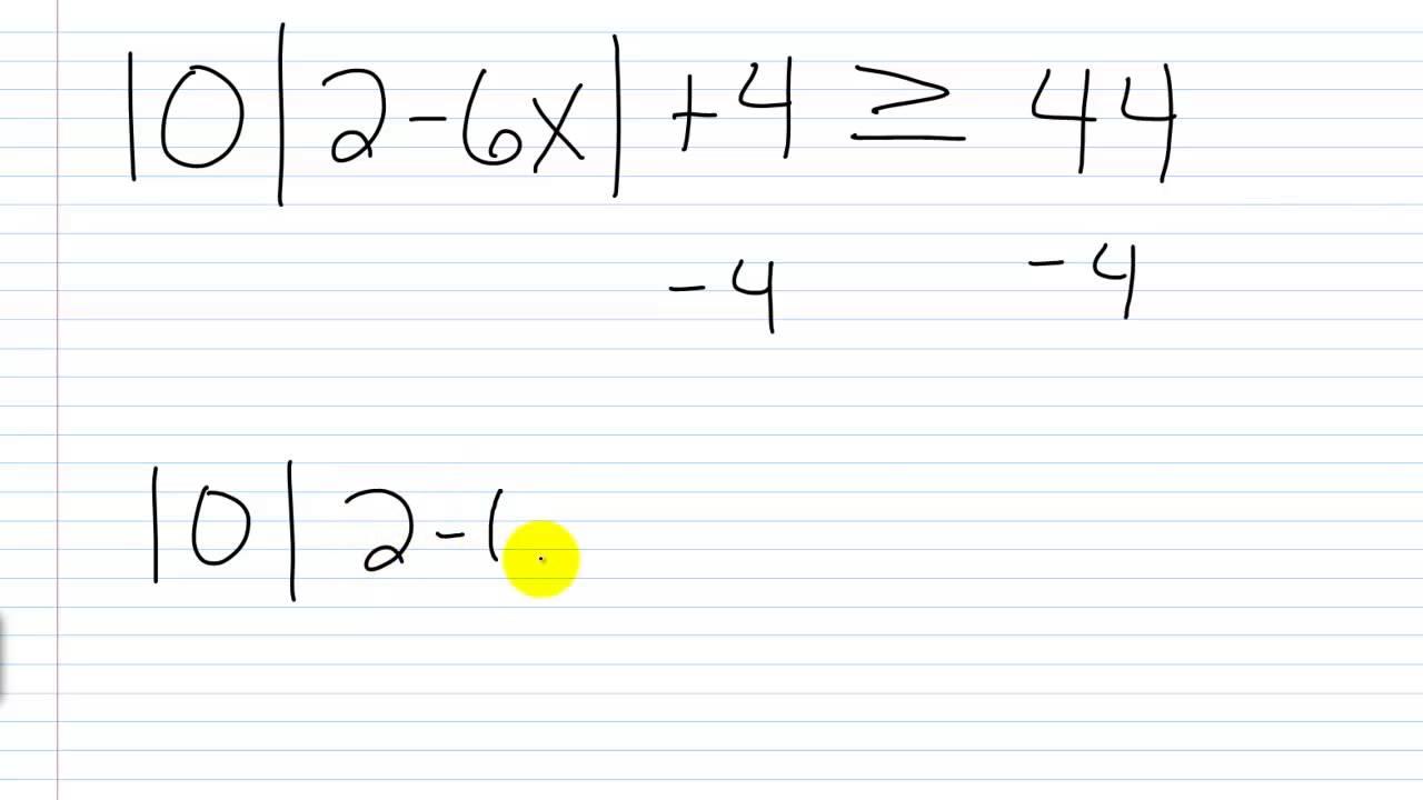 Algebra II Lesson V.10: Solving Absolute Value