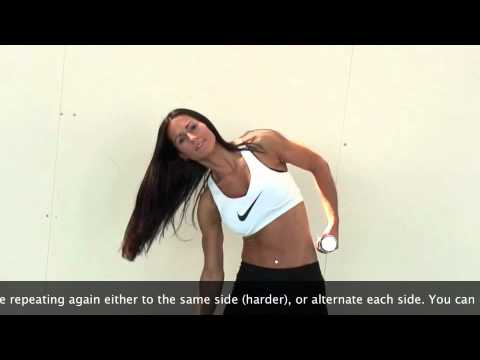 weighted dumbbell trunk side bends - oblique abdominal muscle exercise