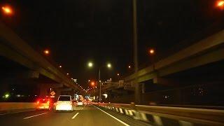 【車載動画】夜の国道23号 名四国道(浜田町~有松インター)【夜間撮影】