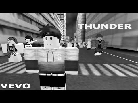 Thunder by Imagine Dragon, Roblox music video.