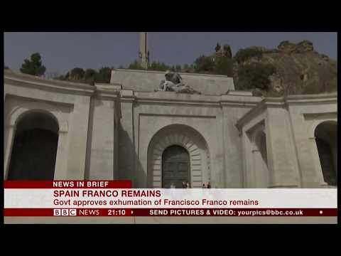 General Franco remains to be exhumed (Spain) - BBC News - 24th August 2018