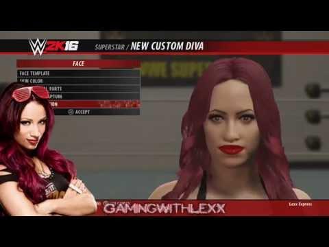 Sasha Banks CAW + Entrance WWE 2k16 - best authentic gear & entrance - Divas Revolution!