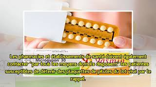 Rappel de pilules contraceptives