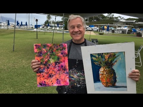 "BobBlast 93 ""Painting Demo - Hawaii Watercolor Society"""