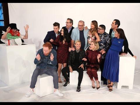 Randi West - Ellen scares Modern Family Cast