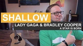 🎸Shallow - Lady Gaga & Bradley Cooper - Tutorial - Gitarre - a star is born