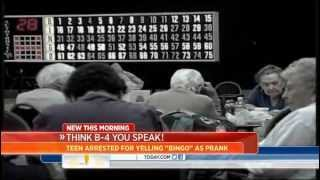Teen arrested for yelling 'bingo' in crowded hall