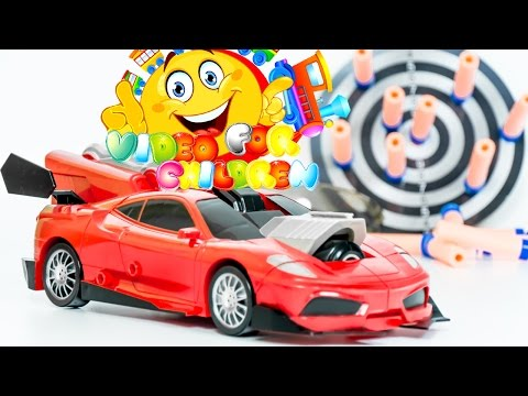 Cool Toys Mega Blast Transformer Gun + Car 2 in 1 VIDEO FOR CHILDREN