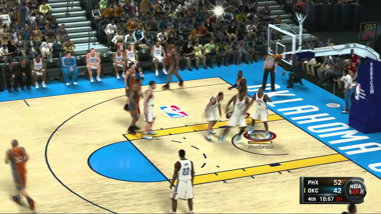NBA 2K11 Online Kevin Durant vs Steve Nash Suns ChaseB
