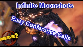 Infinte Moonshoots on the Warrior | Borderlands 2: Easy XP, Conference Calls and other Legendaries!