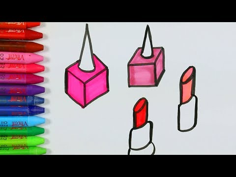 Compilare le pagine di colorazione dei materiali💋|Libro da colorare|Imparare i colori per i bambini