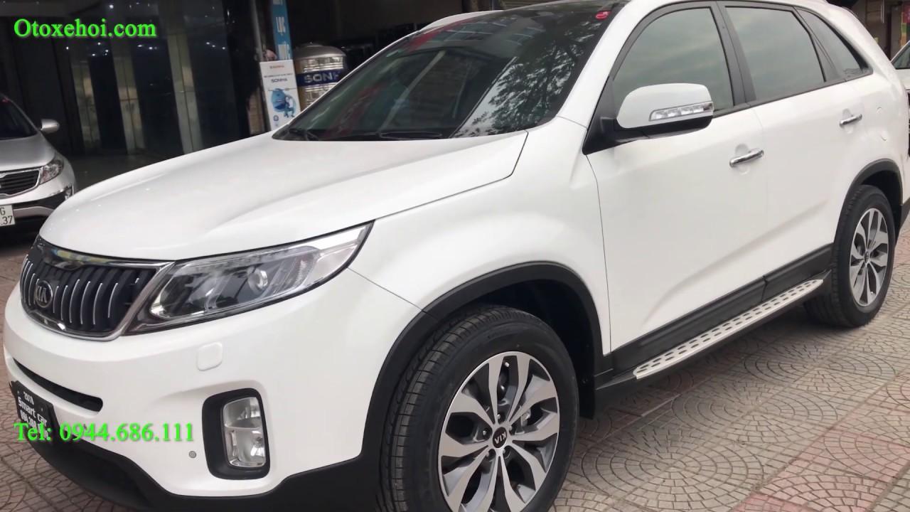 Bán xe Sorento màu trắng máy dầu 7 chỗ, sản xuất 2018 – Giá 865 Triệu | Tháng 3 – 2020