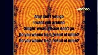 Green day- Amy (lyrics) studio version