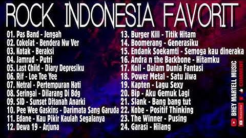 LAGU ROCK INDONESIA PT 2 || PLAYLIST TERPILIH || COCOK UNTUK MENEMANI ANDA KERJA PENUH SEMANGAT