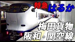 【貨物線経由】特急はるか号 新大阪→関西空港乗車記