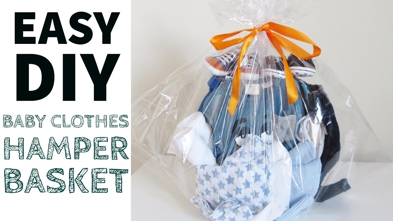 D I Y Baby Shower Gift Hamper Basket Youtube