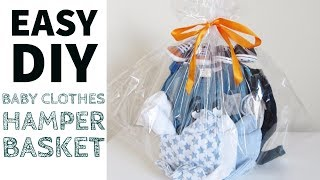 D.I.Y Baby Shower Gift Hamper Basket