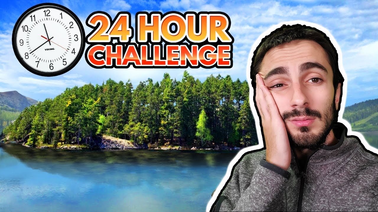 24 Hours Camping on My PRIVATE Island!