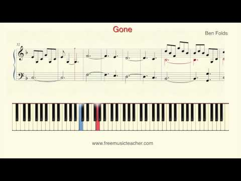 "How To Play Piano: Ben Folds ""Gone"" Piano Tutorial by Ramin Yousefi"