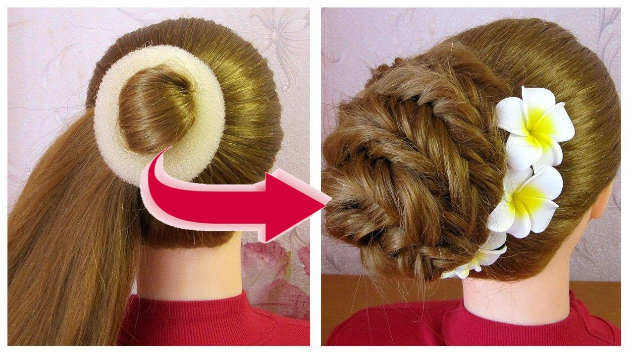 Lace Fishtail Bun Hairstyle ❤ Easy French Roll Hairstyle Step By Step ❤ Tuto coiffure soirée/mariage