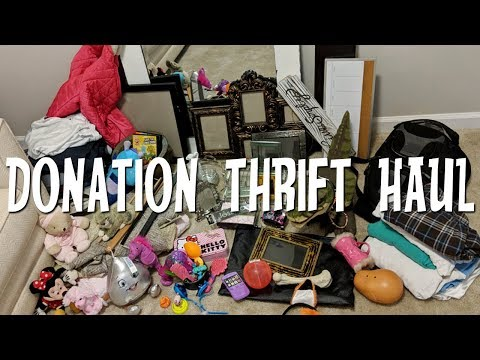 Goodwill Donation Thrift Haul-Spring De-Cluttering Motivation! Home Decor, Clothing & Toys!