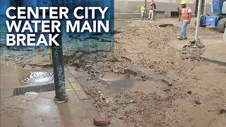 Philadelphia water main break ...