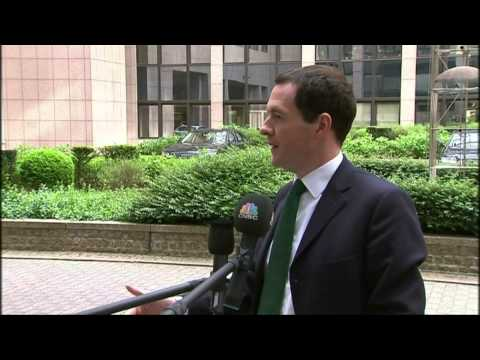Economic and Financial Affairs Council: British Chancellor of the Exchequer George Osborne