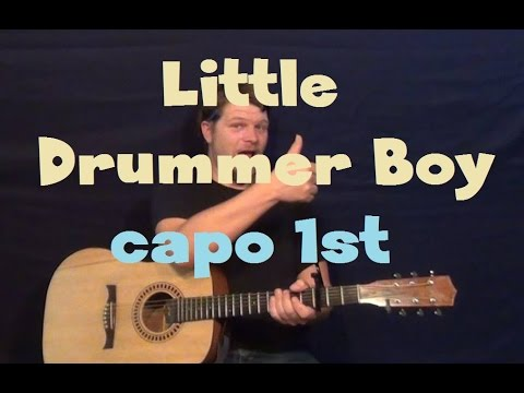 Little Drummer Boy (Pentatonix) Easy Strum Guitar Lesson How to Play Tutorial
