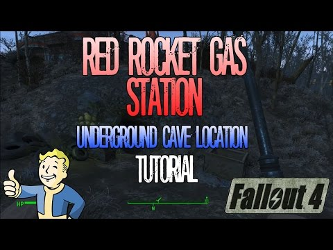 Fallout 4 | Red Rocket Gas Station | Underground Cave Location | Tutorial