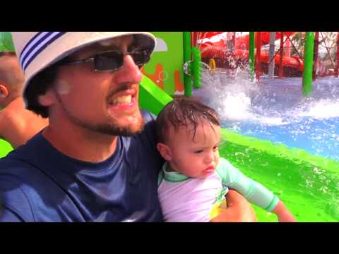 SPONGEBOB WATER PARK! (Nickelodeon Resort Hotel Punta Cana Beach Part 2 w/ FUNnel Vision Family Fun)