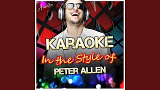 Everything Old Is New Again (In the Style of Peter Allen) (Karaoke Version)