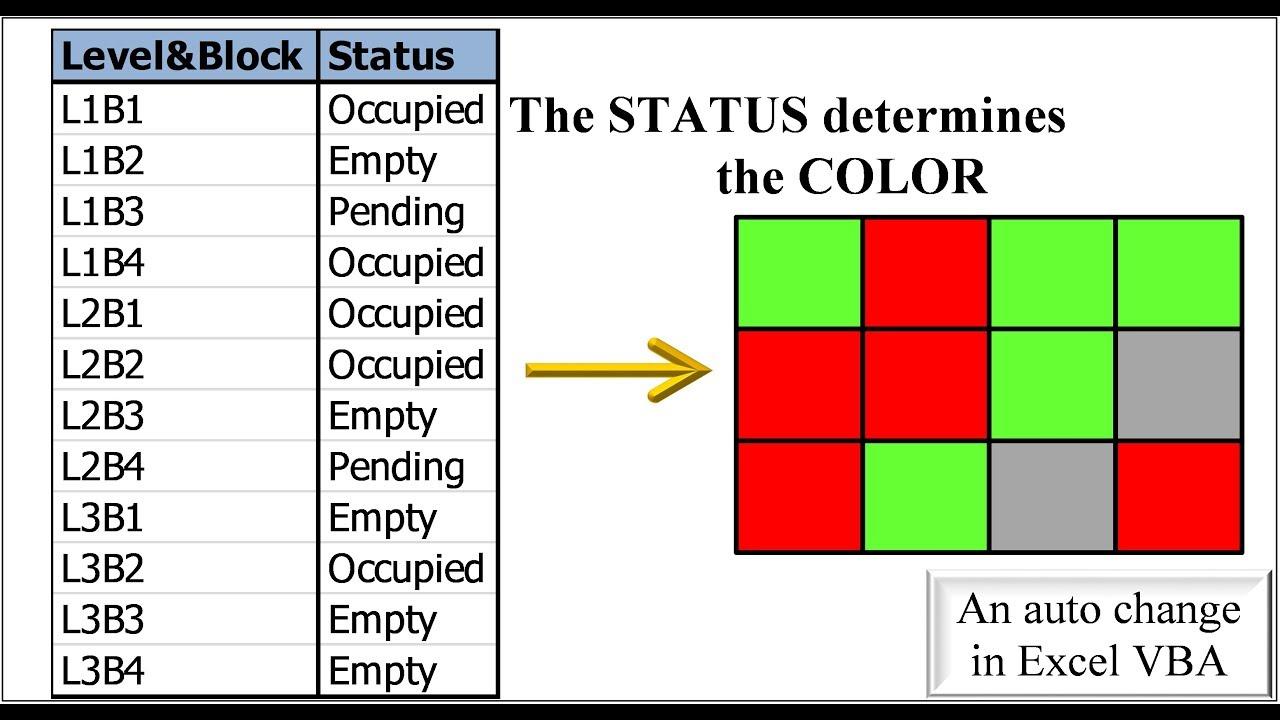 Excel VBA - Change color of shapes on cell change