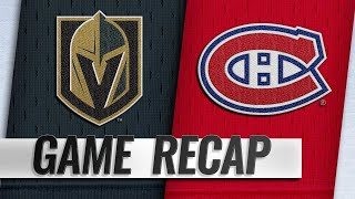 Shaw, Kotkaniemi lift Habs to 5-4 win over Knights