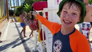 ВЛОГ Водные аттракционы в парке The Land of Legends от Макс и Катя