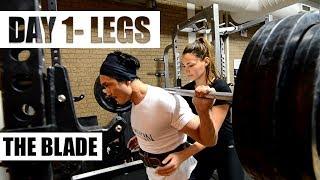 THE BLADE |DAY 1- LEGS| 12 weeks cutting program by JEET SELAL, ft. Lilian Dikmans