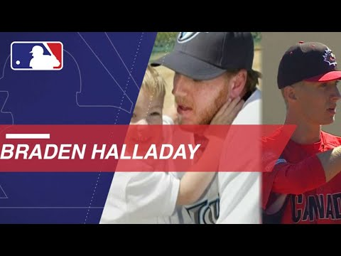 Braden Halladay Pitches Inning Against Late Father's Team
