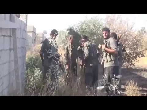 Syria Shots YPG fighters clash with militants ISIS 18