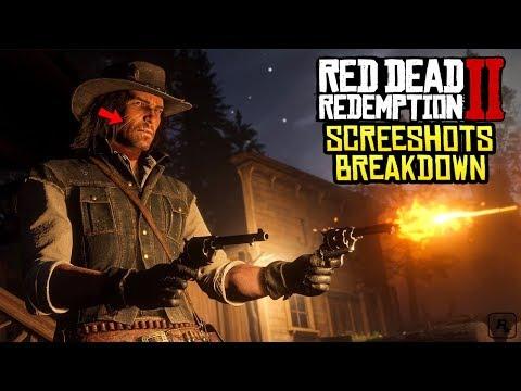 Red Dead Redemption 2: NEW Screenshots In Depth - John Marston's Scars, Arthur Morgan Beard & More