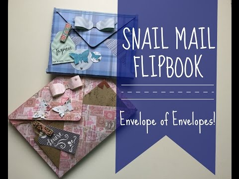 SNAIL MAIL FLIPBOOK | Envelope Style | Process and Tutorial