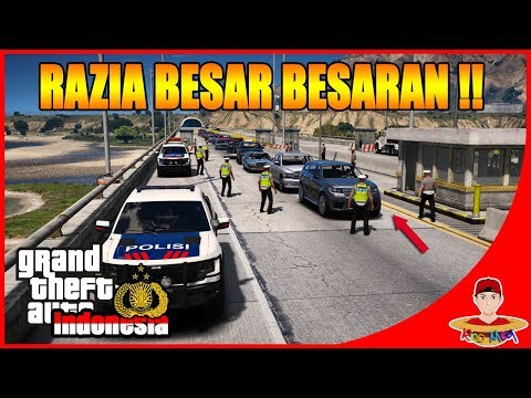 GTA V MOD INDONESIA (19) - ADAIN RAZIA BESAR BESARAN DI JALAN TOL !!