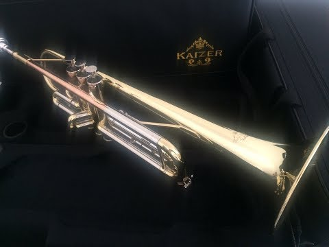 Kaizer 3000 series trumpet unboxing & review