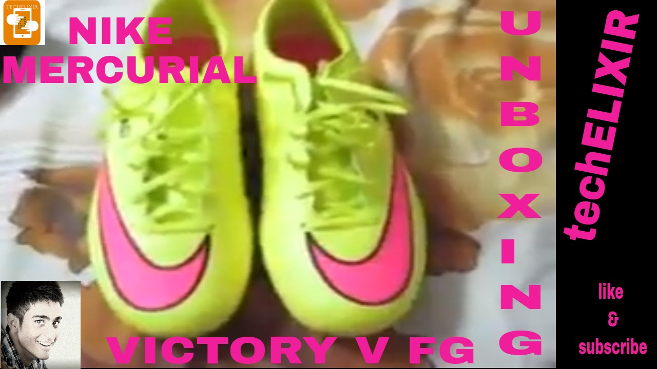 on sale 34f52 971c1 NIKE MERCURIAL VICTORY V FG UNBOXING